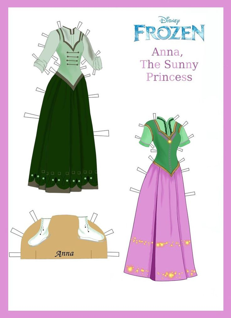 Disney's Frozen Paper Dolls: Anna's Outfits Page 2 by evelynmckay
