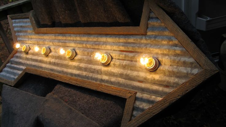 Cyber Sale Arrow Light Corrugated Galvanized Tin With Barn