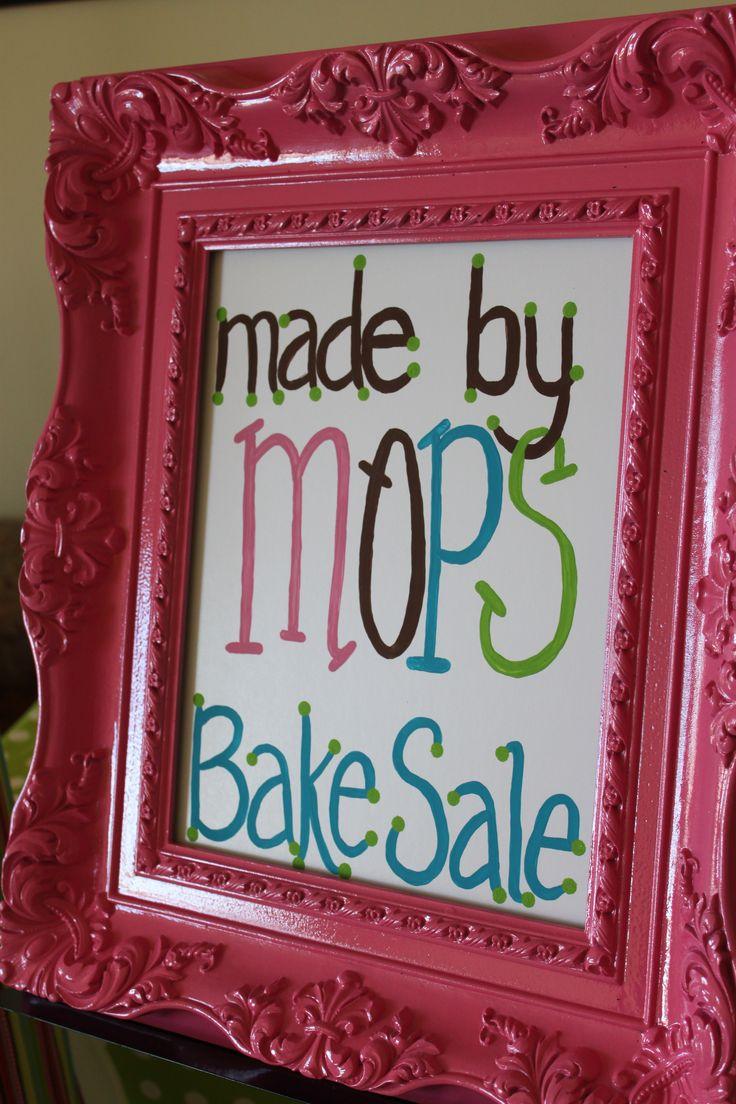 Bake Sale...cute display!