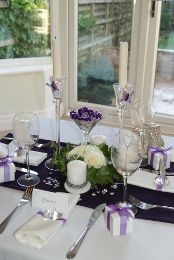 20 best purple wedding table decorations images on pinterest lovely light purple table top decoration scene perfect for a wedding or party junglespirit Images