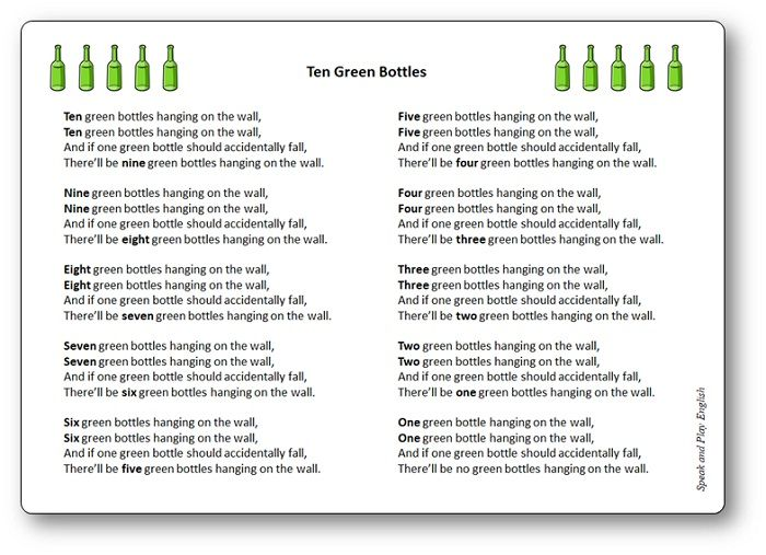 Ten Green Bottles In 2020 Rhymes Songs Nursery Rhymes Songs Nursery Rhymes