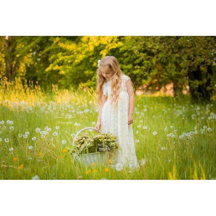 """""""Amalies lace rose"""" Blonde kjole i ivory"""