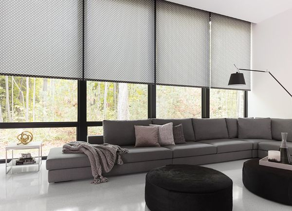 Motorized Blinds And Your Windows In 2020 With Images Living Room Windows Custom Roller Shades Modern Window