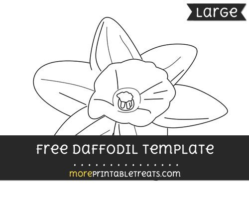 free daffodil template large shapes and templates printables