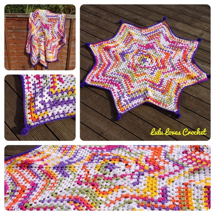 Lulu Loves Crochet: November 2014. Granny star blanket
