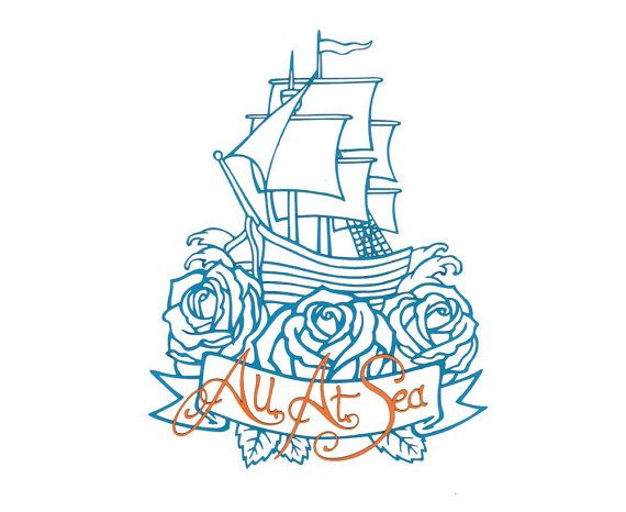 All At Sea  nautical themed tattoo style paper cut by matteblack, £20.00