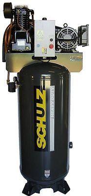 7.5HP Single Phase, 80 Gallon, 175 PSI, 30 CFM, Schulz Air Compressor