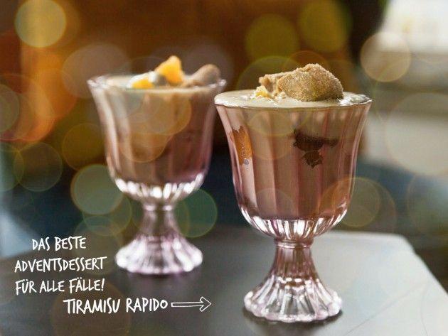 Schneller gehts nicht! Dieses Tiramisu rapida wird eine Sensazione an jeder Festtagsparty: http://bit.ly/spiga_tiramisu_rapida