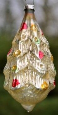 Antique Christmas Tree mouth-blown glass Christmas Ornament. Find today's version at www.mygrowingtraditions.com