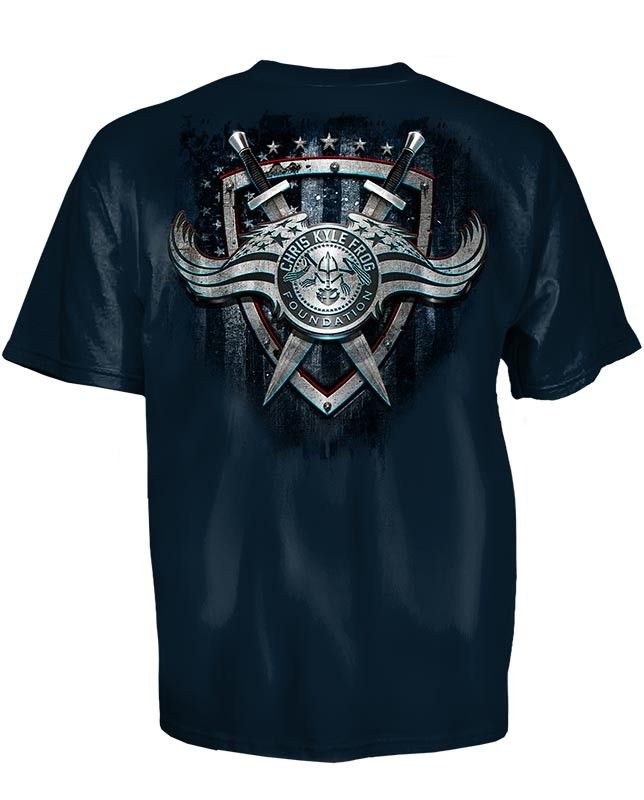 Chris Kyle Frog Foundation Sword And Shield Tee Shirt