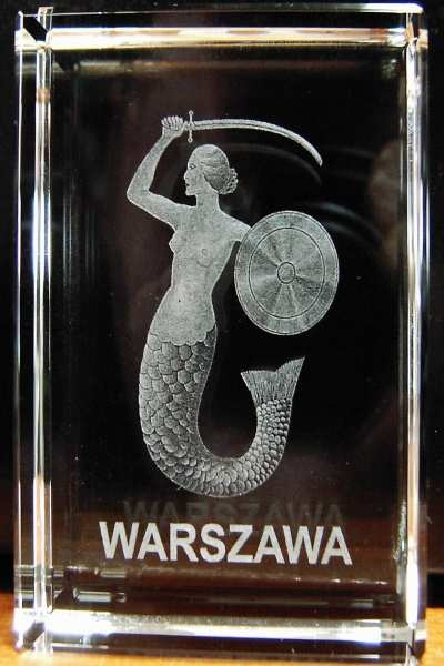 Syrenka z Warszawy. Symbol stolicy III Rzeczpospolitej.
