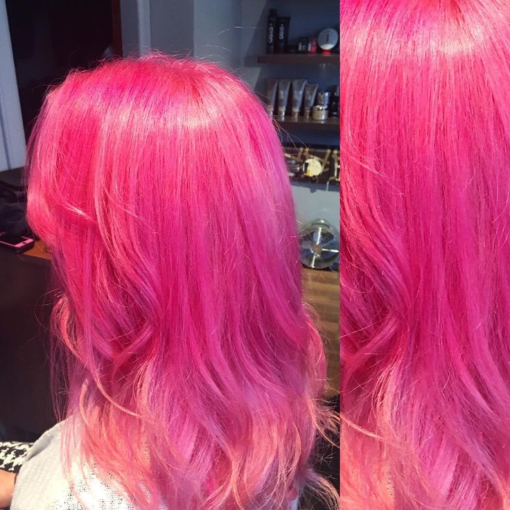 "Robbie Bruce on Instagram: ""PINK PERFECTION @littlebiteof went a little bit brighter when I was working in Edinburgh, love the final look, what you think?"""