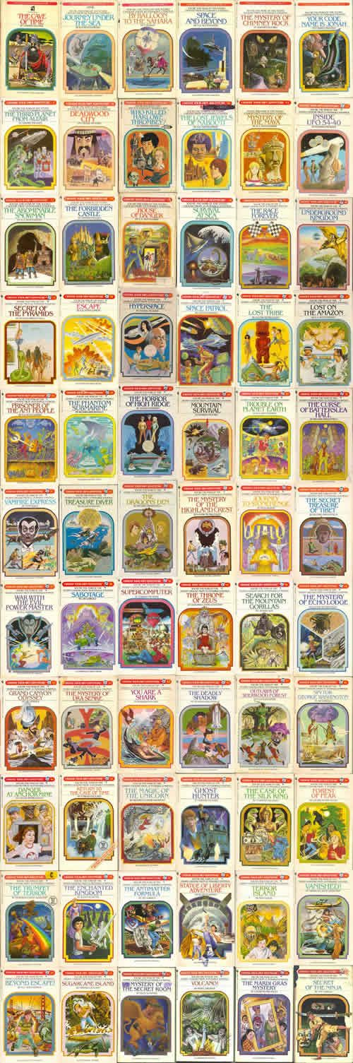 Choose Your Own Adventure Books - there used to be a waiting list for these in our school library!
