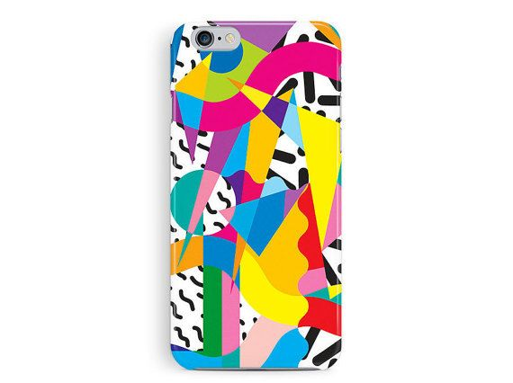 Fashionable 90s inspired graphic shapes and triangles pattern. Cool gift for your 90s fashion obsessed friend! Bold and colourful, made from
