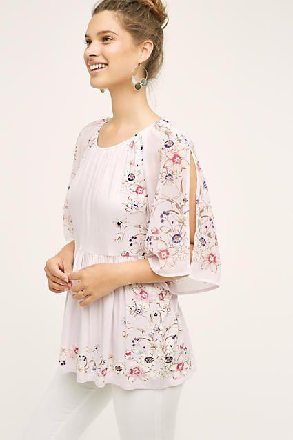 Garden Border Blouse - blouses, choli, yellow, neck, peasant, outfits blouse *ad