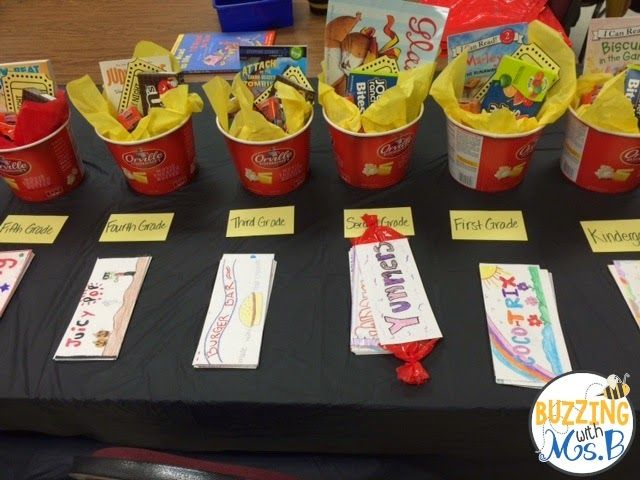 For our Family Literacy Night: Fun contest - create the best concession stand candy bar wrapper and win a movie themed prize!