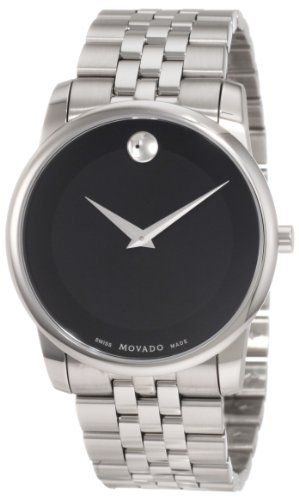 Cheap Best Price Movado Men's 0606504 Museum Stainless Steel Black Museum Dial Bracelet Watch for Sale Low Price Order Now!! Free Shipping !! Father's Day Sale 2013