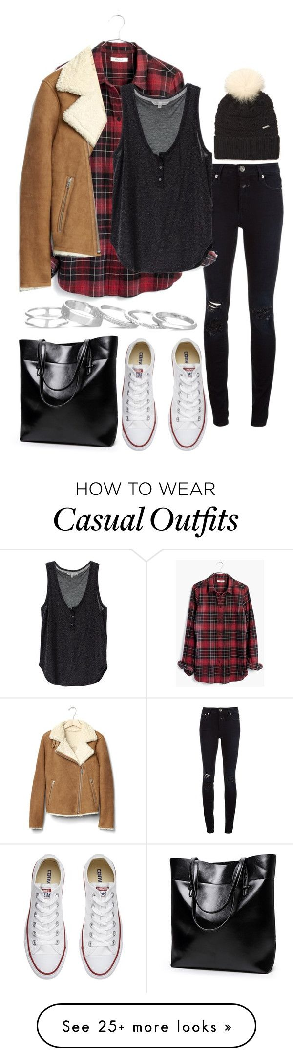 """Untitled #541"" by el-khawla on Polyvore featuring Closed, Madewell, Converse, Gap, Woolrich John Rich & Bros and Kendra Scott"
