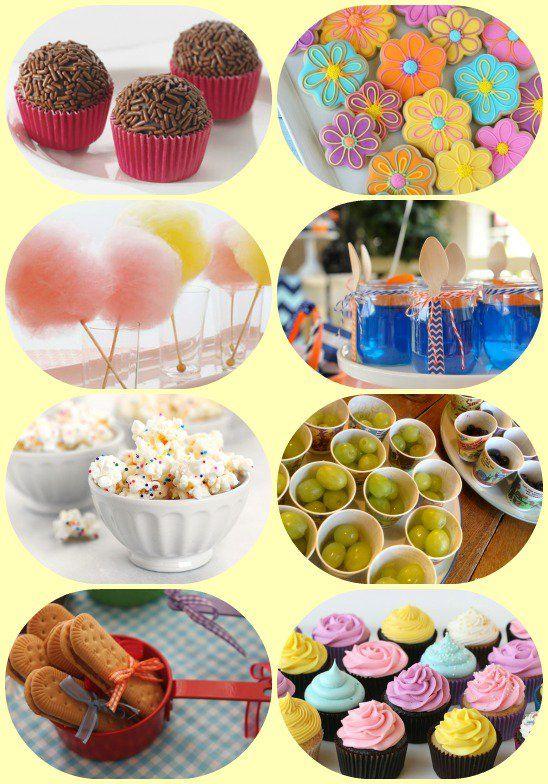 comidas para festa infantil doces