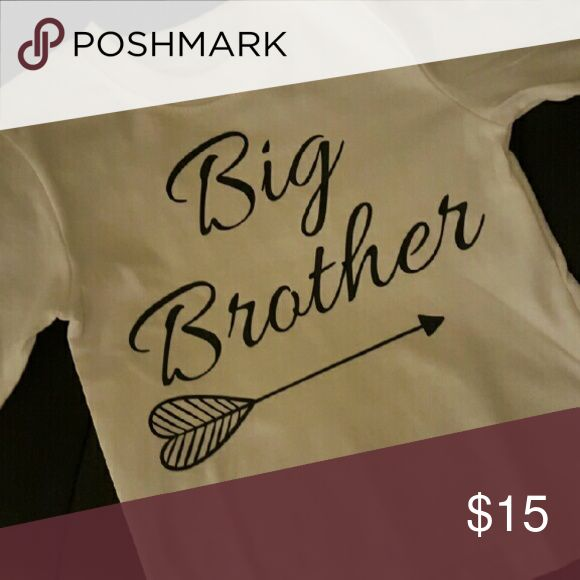 """Custom made shirt Custom made """"big brother"""" shirt Can be made any size and color Can also be little brother Shirts & Tops Tees - Long Sleeve"""