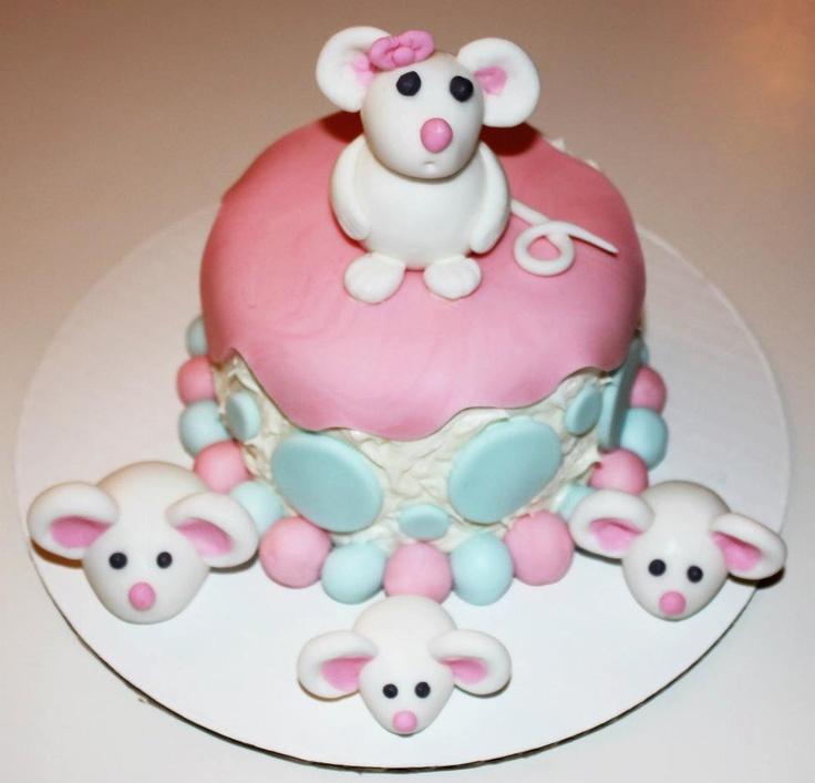 Fondant Mouse Cake