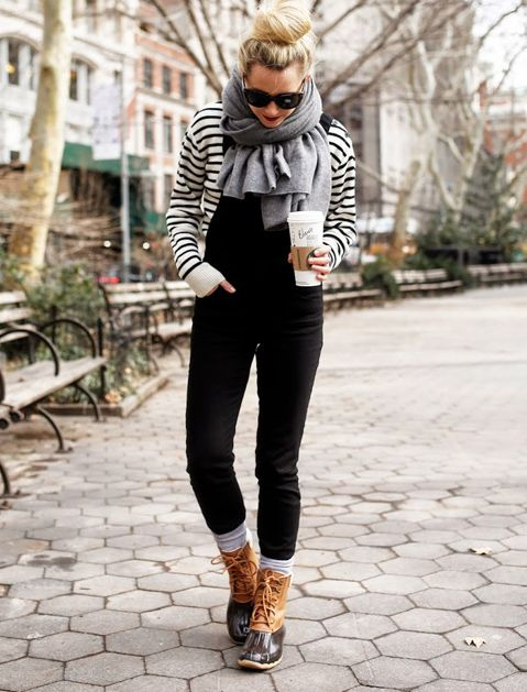 How to Wear Snow Boots and Still Look Like a Lady via @PureWow