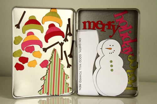 Magnetic make a snowman kit by Erin Lincoln. So cute!