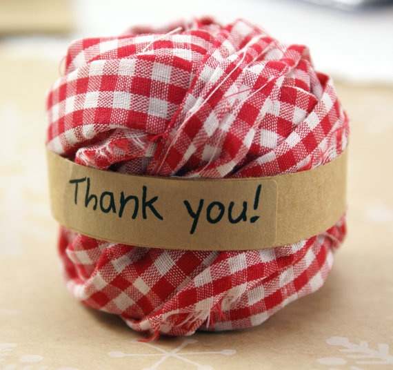 red gingham fabric ribbon