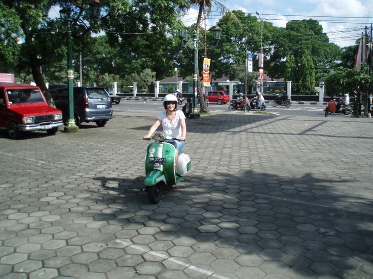 Yogya on a vespa