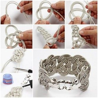 How to Make Easy Braided Leather Bracelet thumb