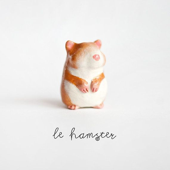 Le Hamster Peridot Totem by le animalé by leanimale on Etsy