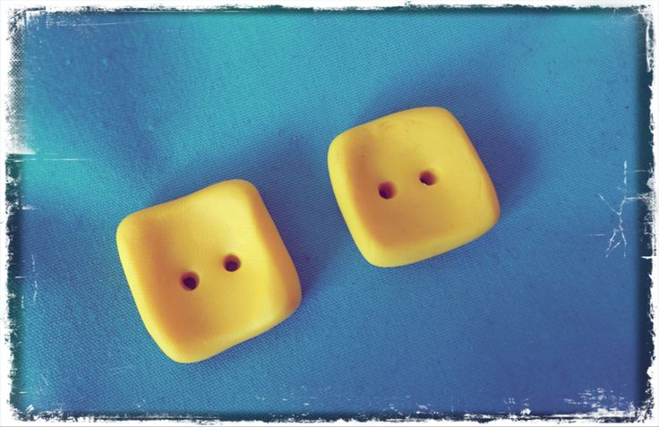 yellow fimo buttons