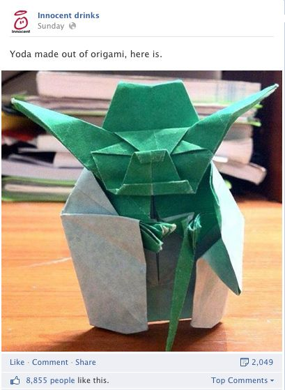 Innocent, Facebook post, yoda, star wars, craft, papercraft
