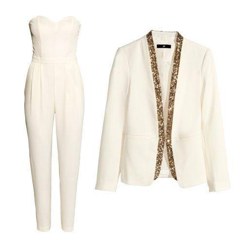 Brautmode fürs Standesamt: Wir haben die Hosen an  Weiße oder cremefarbene Hosenanzüge sind eine gelungene Alternative zum klassischen Kleid...
