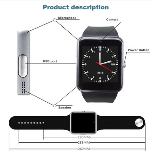 Smart Watch Clock With Sim Card Slot Push Message Bl... | Tophatter