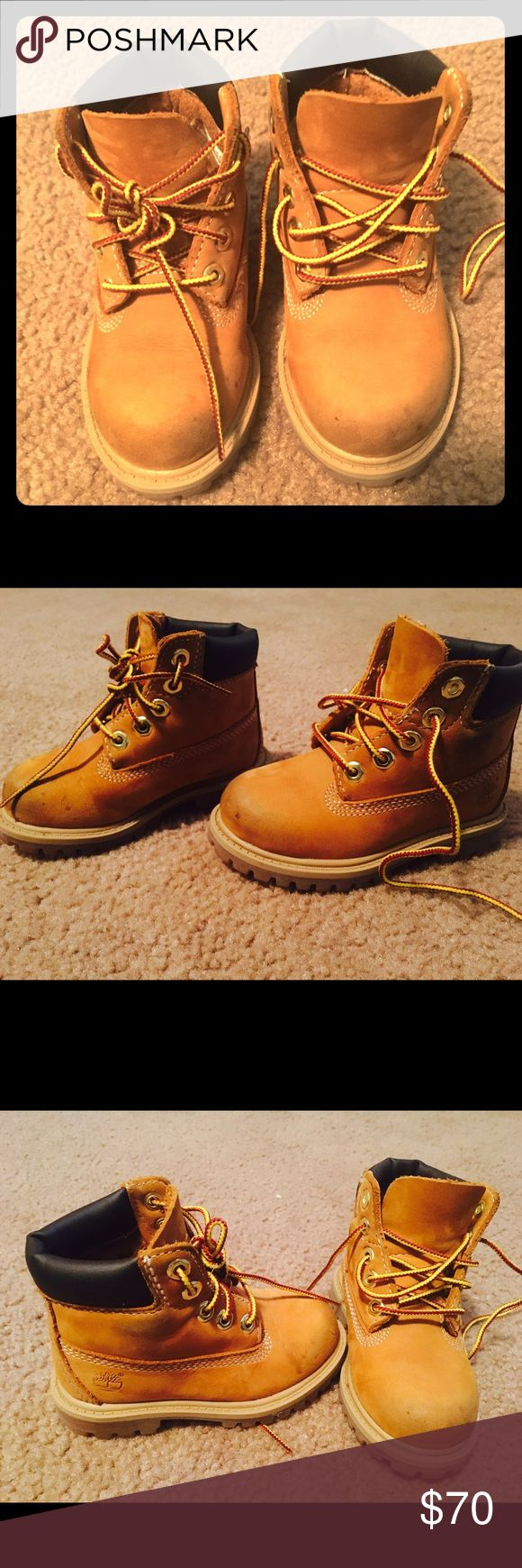 Timberland boots Wheat Timberland boots. Less than year old. Few spots worn a few times. Size 7. Timberland Shoes Boots