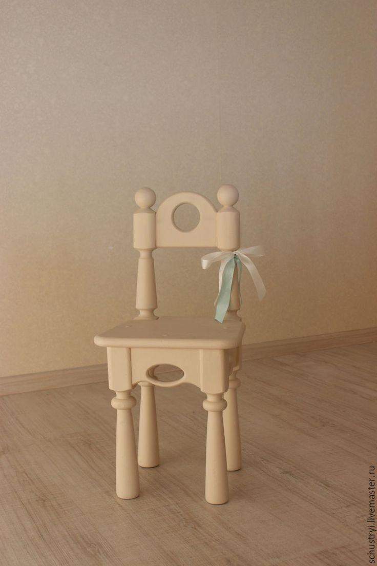 Купить Стул детский для фотосессий из кедра Алиса - бежевый, стул, стульчик, детский праздник