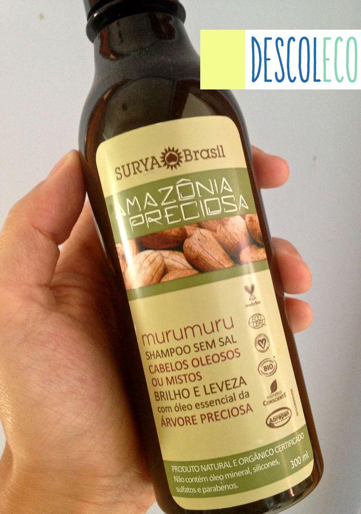 TESTEI : shampoo de murumuru da Surya Brasil : http://descoleco.com/2015/03/09/testei-shampoo-organico-murumuru-amazonia-preciosa-surya-brasil/