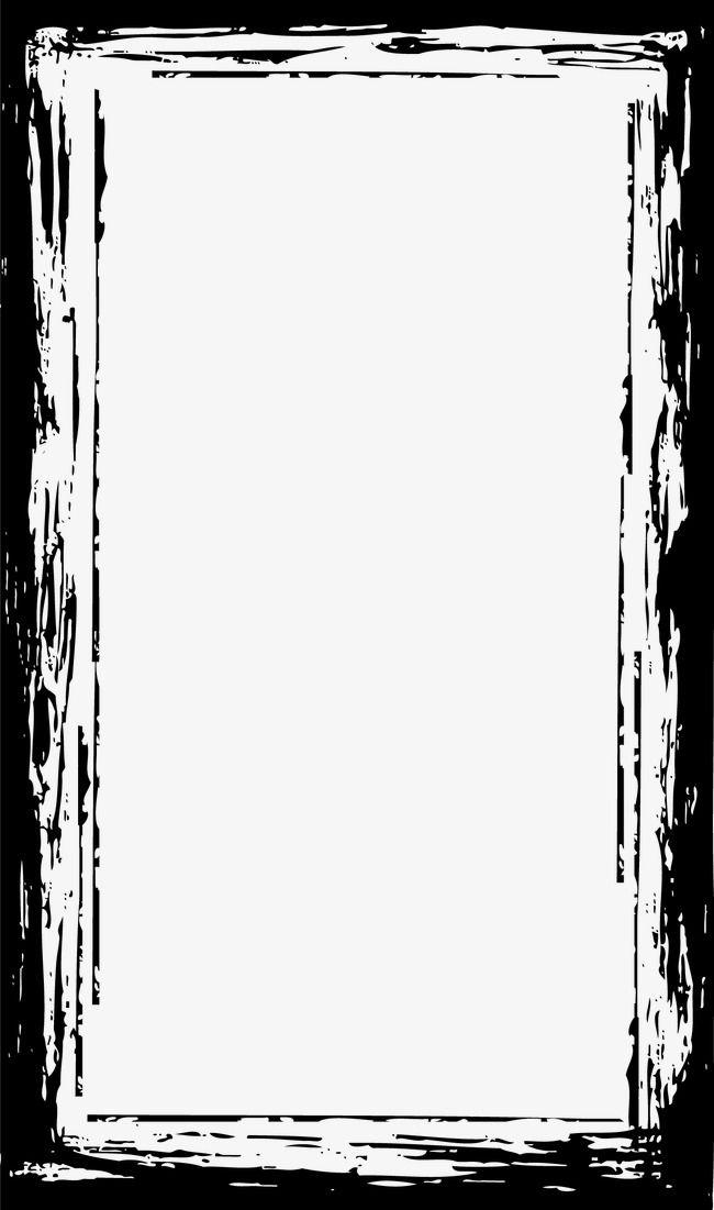Vector Pomo Graffiti Black Irregular Textured Frame Ink Vector Border Vector Border Ink Hd Background Download