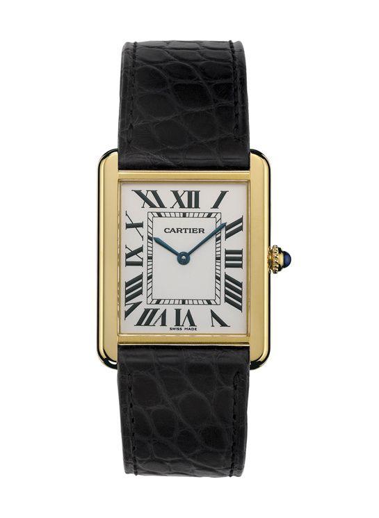Cartier montre 'Tank Solo' http://www.vogue.fr/joaillerie/shopping/diaporama/montres-carrees-horlogerie/20947/image/1109152#!cartier-montre-tank-solo