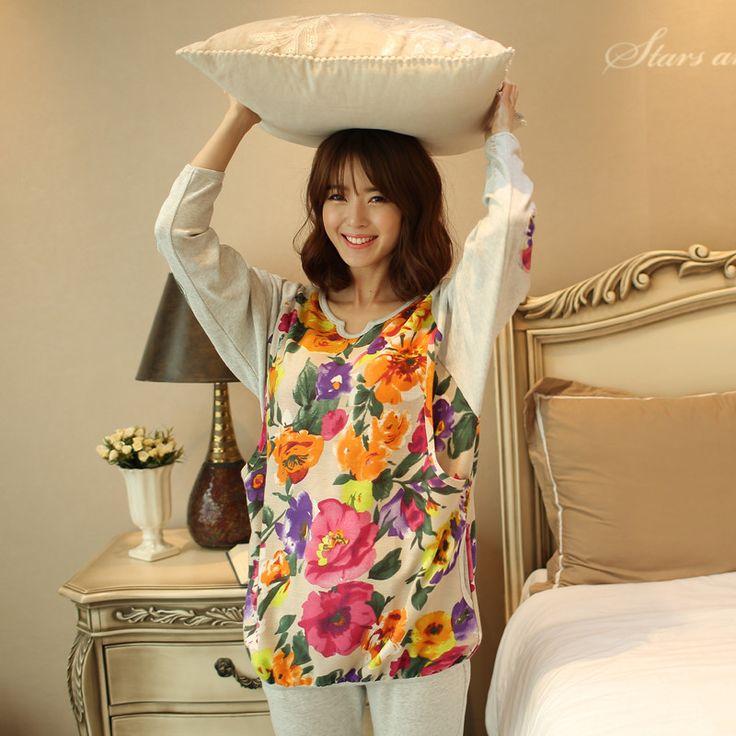 Одежду, чтобы выйти весной кормления лактации одежды размер одежды пижамы одежда Для Дома после родов у женщин