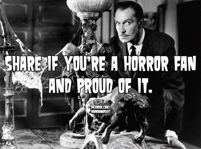 Vincent Price. Share if you're a horror fan and proud of it!