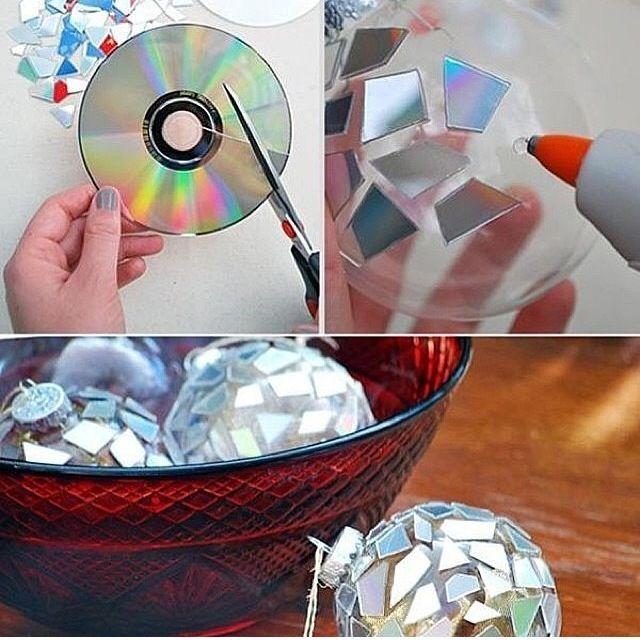You got some old CDs? Good! You can make mini disco balls!