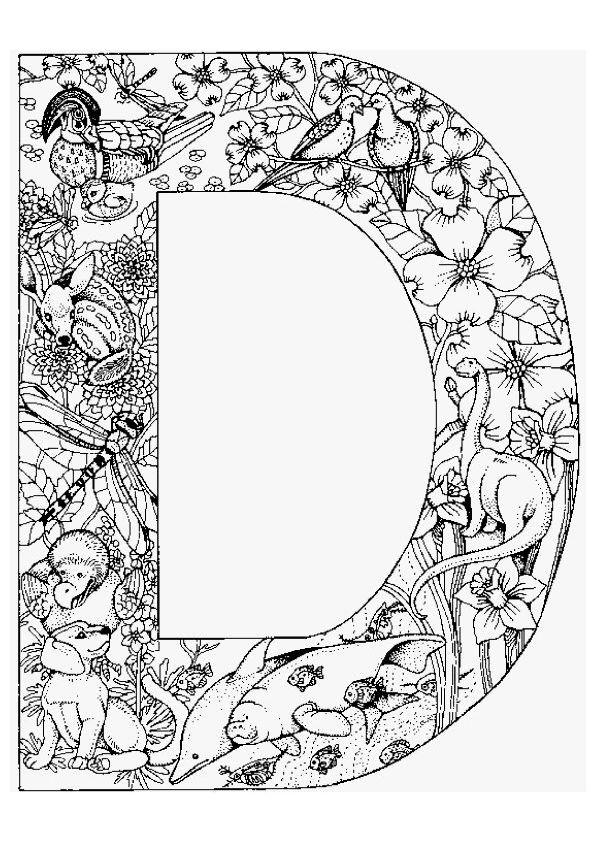 Du dinosaure au légendaire dodo, tu trouveras tous tes animaux préférés dans cette illustration de la lettre D. A colorier
