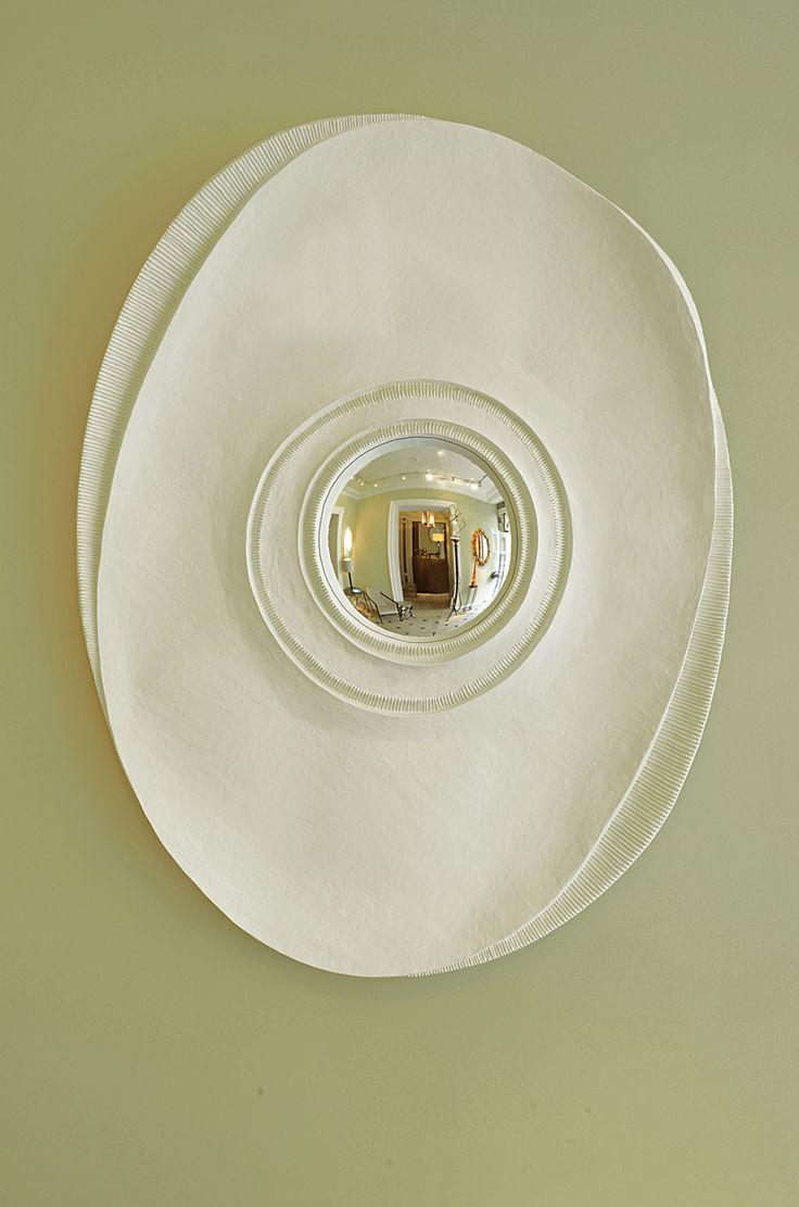 Miroir ovale les farfelus farfadets papier m ch for Miroir largeur 40 cm