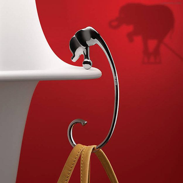 Elephant Purse Hook. How does it even...? So cute, don't care.