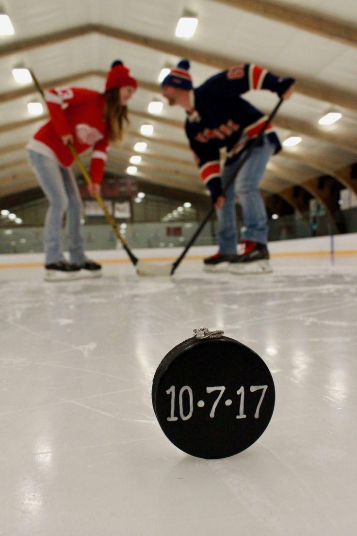 Hockey engagement photo