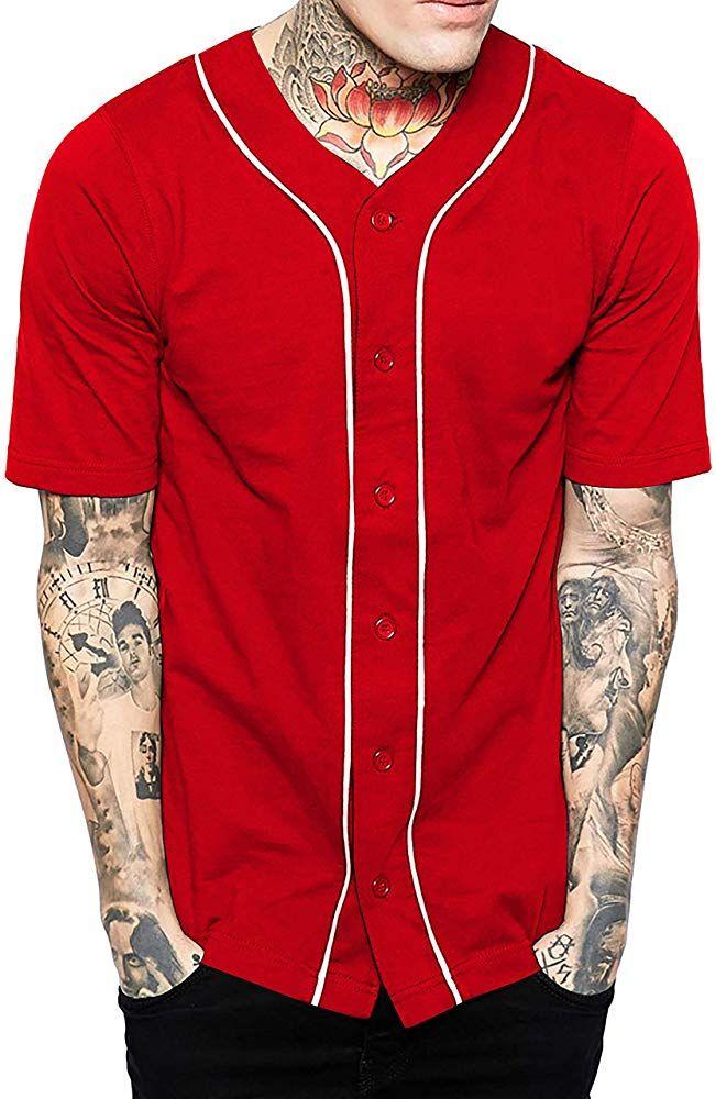 Baseball Tee Button Up