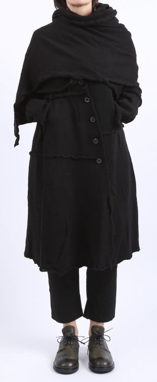 roundwood black label - coat boiled wool black - Winter 2016 - proper style - fashion for women with size ...