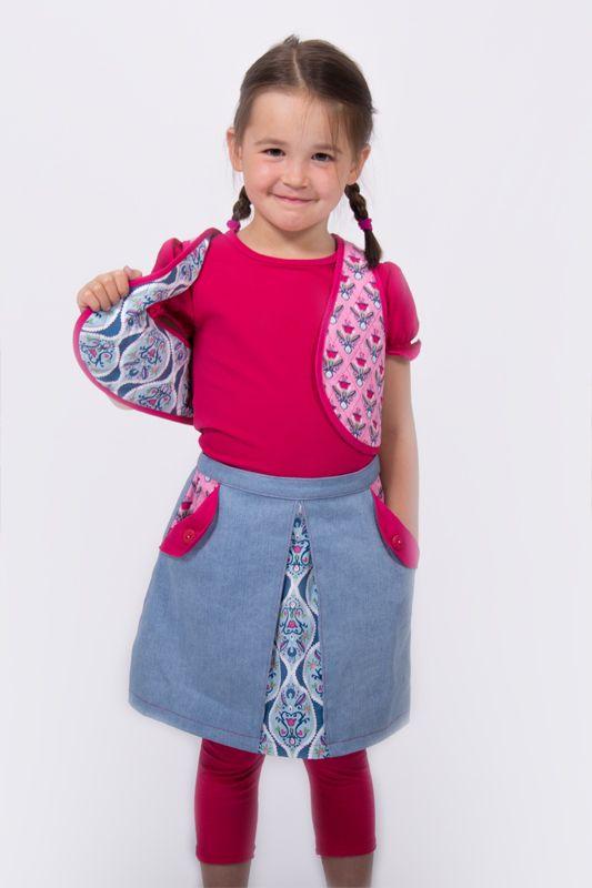 DIY-Tutorial Nähanleitung für eine Kinderweste zum Wenden - mit Schnittmuster zum Herunterladen.